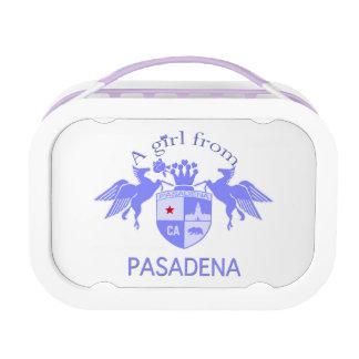 A Girl From PASADENA Logo Emblem Yubo Lunchbox