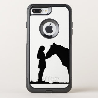 A Girl & Her Horse Love Silhouette Art OtterBox Commuter iPhone 8 Plus/7 Plus Case