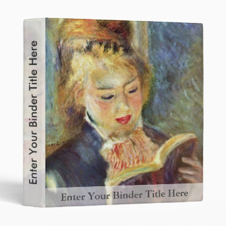 A Girl Reading By Pierre-Auguste Renoir 3 Ring Binder