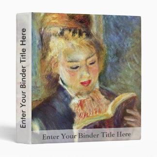 A Girl Reading By Pierre-Auguste Renoir Vinyl Binder