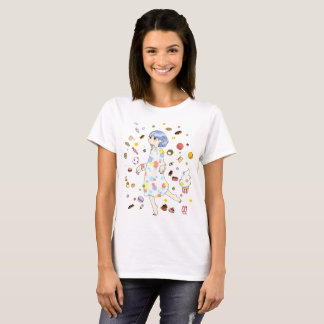 A girl surrounded by sweet T-Shirt