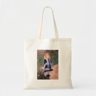 A Girl With A Watering Can by Pierre Renoir Tote Bags