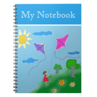 A Girl with Kites Notebooks