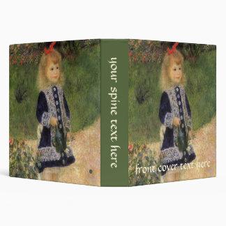 A Girl with Watering Can by Pierre Renoir Vinyl Binders