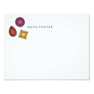 A Girl's Best Friend Stationery - Sapphire Card