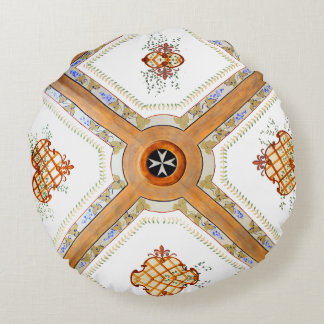 A Glass Ceiling Round Pillow