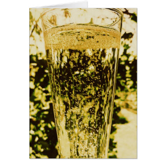 A glass of Champagne Happy Birthday Card