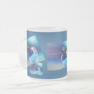 A glass of drink frosted glass coffee mug