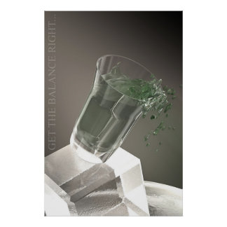 A glass of green water poster