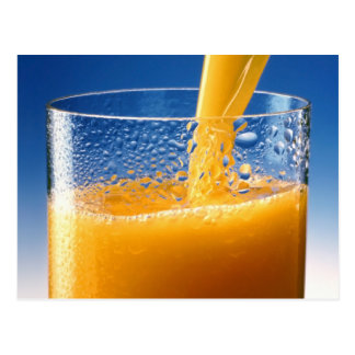A Glass of Orange Juice Postcard