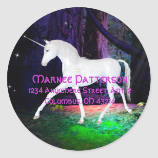 A Glimpse of a Unicorn - Fantasy Address Stickers