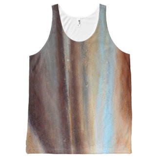 A Glimpse of Blue Abstract Tank Top