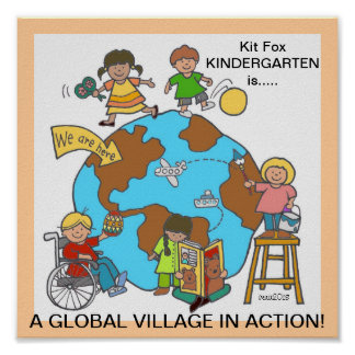A Global Village in Action Poster