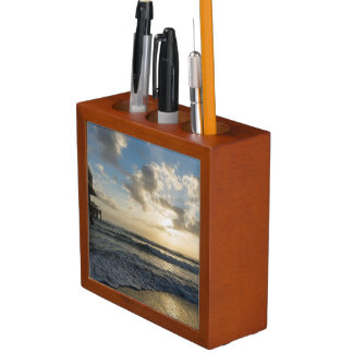 A Glorious Beach Morning Desk Organizer