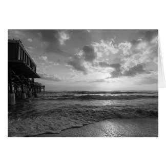 A Glorious Beach Morning Grayscale Card