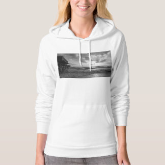 A Glorious Beach Morning Grayscale Hoodie