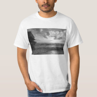 A Glorious Beach Morning Grayscale T-Shirt