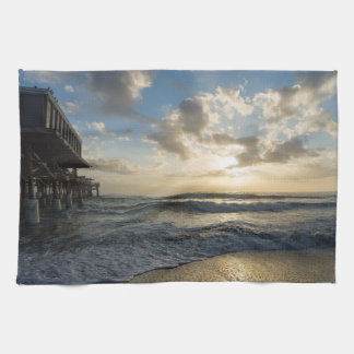 A Glorious Beach Morning Kitchen Towel