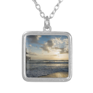 A Glorious Beach Morning Silver Plated Necklace