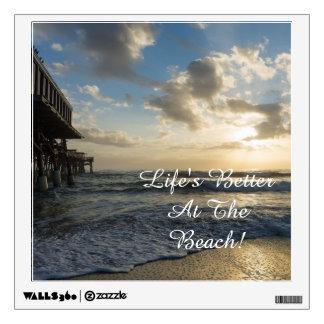 A Glorious Beach Morning Wall Sticker
