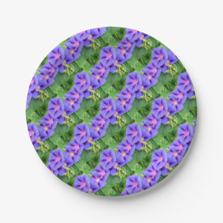 A Glorious Collection of Purple Ipomoea Paper Plate
