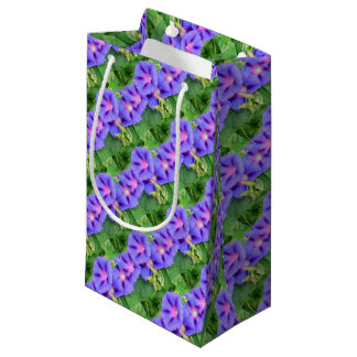 A Glorious Collection of Purple Ipomoea Small Gift Bag