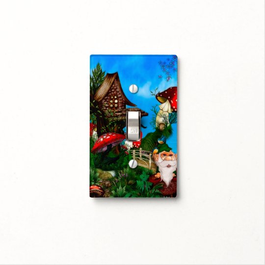 A Gnome for my Garden Fantasy Art Light Switch Cover
