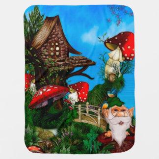 A Gnome for my Garden Fantasy Art Stroller Blankets