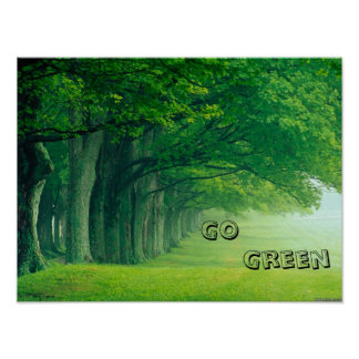 A Go Green Poster
