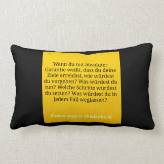 A goal & warranty lumbar pillow