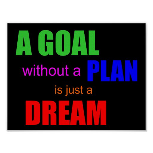 A goal without a plan is just a dream POSTER