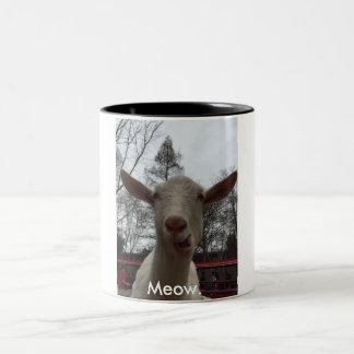 A Goat Says Meow. Two-Tone Coffee Mug