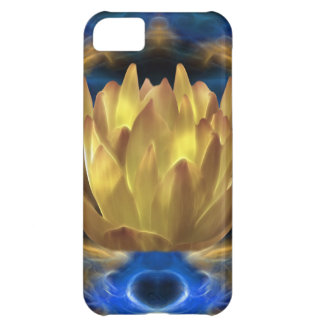 A gold lotus flower and reflections iPhone 5C covers
