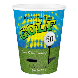 A Golf Player Party Paper Cup
