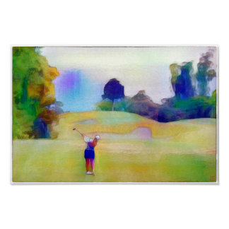 A Golfing Dream - Watercolour Print
