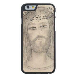 A Good Jesus Carved® Maple iPhone 6 Case