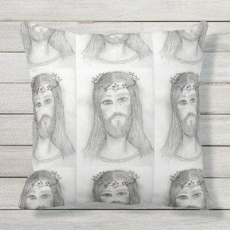 A Good Jesus Outdoor Pillow