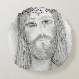 A Good Jesus Round Pillow
