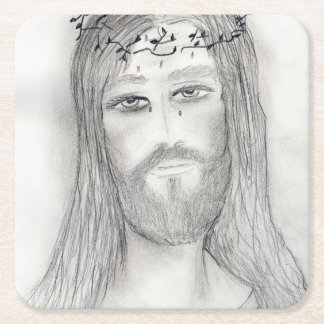 A Good Jesus Square Paper Coaster