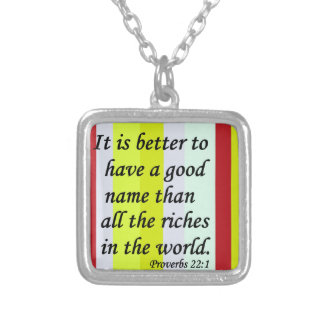 A Good Name Silver Plated Necklace