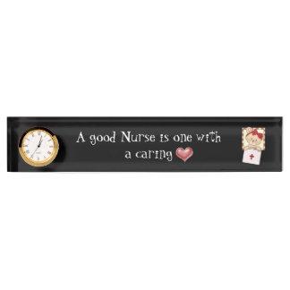 A Good Nurse desk plate