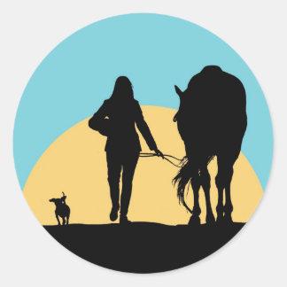 A Good Ride Classic Round Sticker