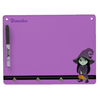 A Goth Witch Dry Erase Board With Keychain Holder