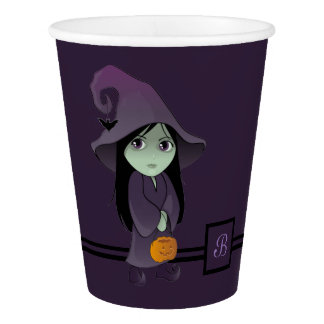 A Goth Witch Paper Cup