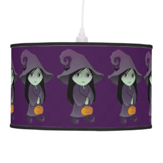 A Goth Witch Pendant Lamp
