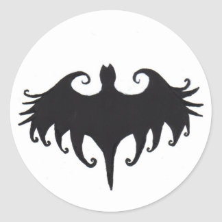 a gothic bat round sticker