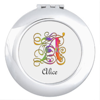 A Gothic Sunshine Mirror Compact with Name