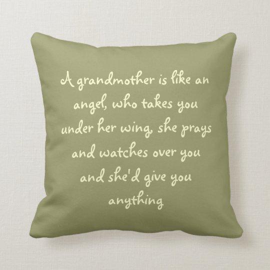 A grandma is like an angel throw pillow