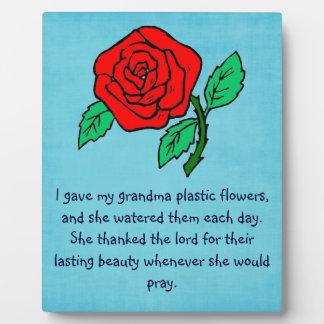 A Grandma's Love - 8x10 Plaque