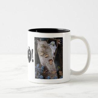 A Grave Ghoul on Halloween - photograph Two-Tone Coffee Mug